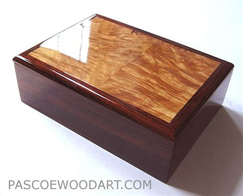 Handcrafted Box - handcrafted wood box valet box for cocobolo maple