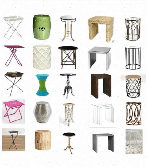 table shapes and sizes your space 25 awesome and affordable side tables