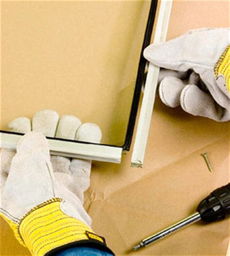 Replacing Glass in a Metal Storm Window   How to Repair a