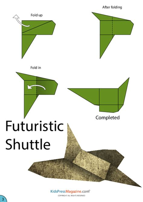 How To Make Paper Space Shuttle - space shuttle paper airplane steps page 3 pics about space