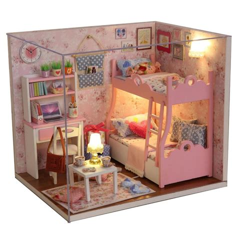 miniature dolls house furniture kits diy wood dollhouse miniature furniture dolls house gift prime time of life ebay