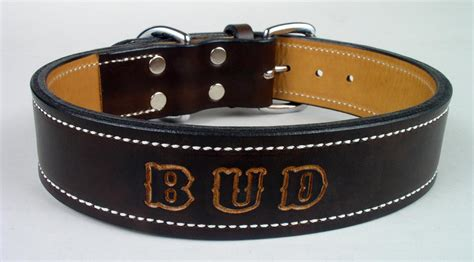 custom leather collars personalized leather collars custom collars
