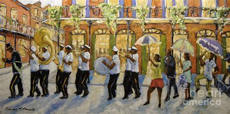 watercolor new orleans second line bourbon street second line new orleans painting by richard