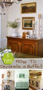 Tips how to decorate a buffet