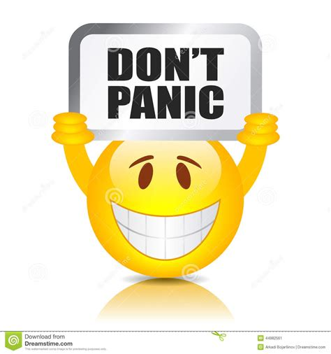 clipart donne don t panic sign stock vector illustration of yellow