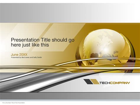 powerpoint cover page template global technology powerpoint cover page template