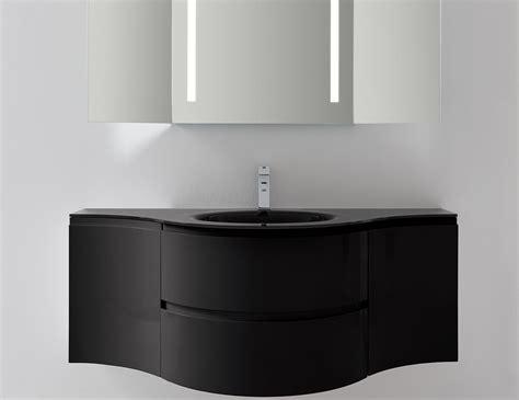 Modern Italian Bathroom Vanities Nella Vetrina Esprit Modern Italian Bathroom Vanity Black Glossy Lacquered