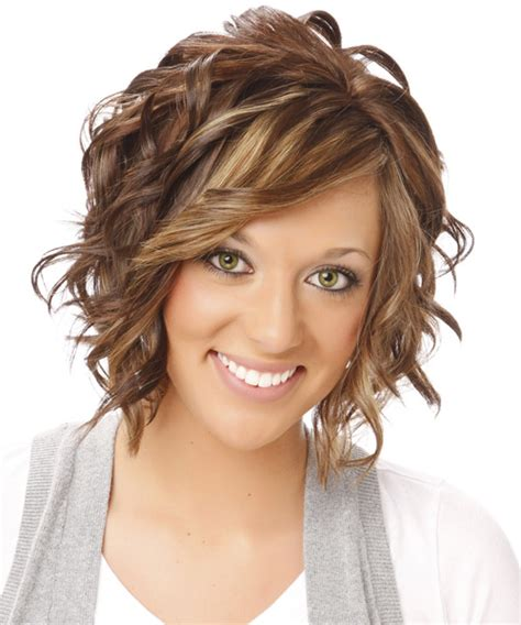 pictures of short on one side and wavy on thevlobg side medium wavy formal hairstyle with side swept bangs