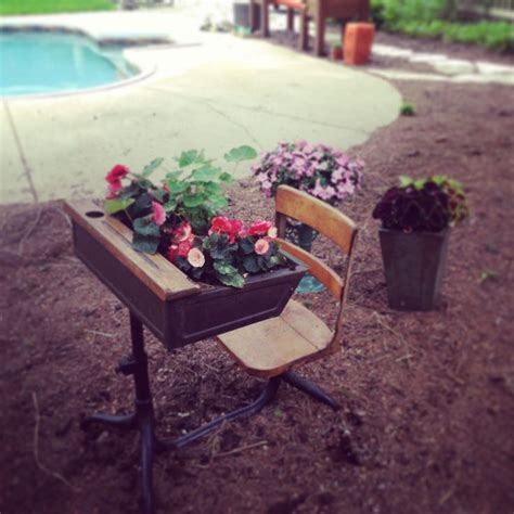 desk planter school desk planter outdoorsey pinterest planters