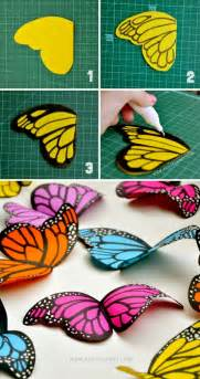 How To Make A Paper Butterfly - diy paper butterflies