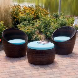 Folding chairs think stylish with this small wicker all weather patio