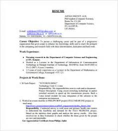 Best Resume Headline For Mechanical Engineer Fresher by Resume Template For Fresher 10 Free Word Excel Pdf