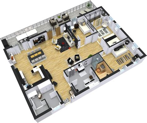 3d office floor plan modern floor plans roomsketcher