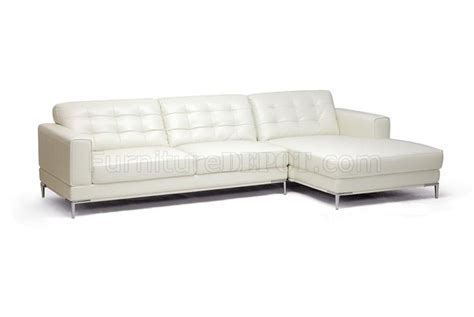 ivory sectional babbit sectional sofa in ivory leather by wholesale interiors