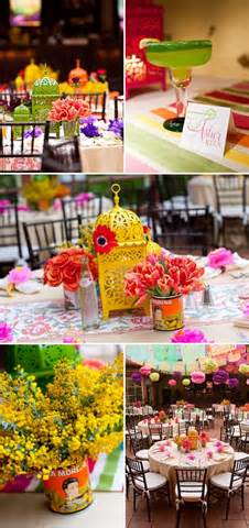 Fiesta centerpieces b lovely events