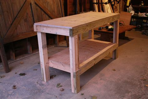 easy work bench ana white quick easy workbench diy projects