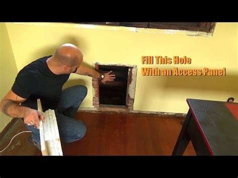 creating a wall panel attic access youtube