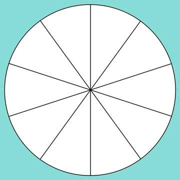 circle divided into 16 equal parts pictures to pin on