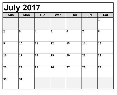 printable calendars july july 2017 calendar monthly 2017 calendar printable for