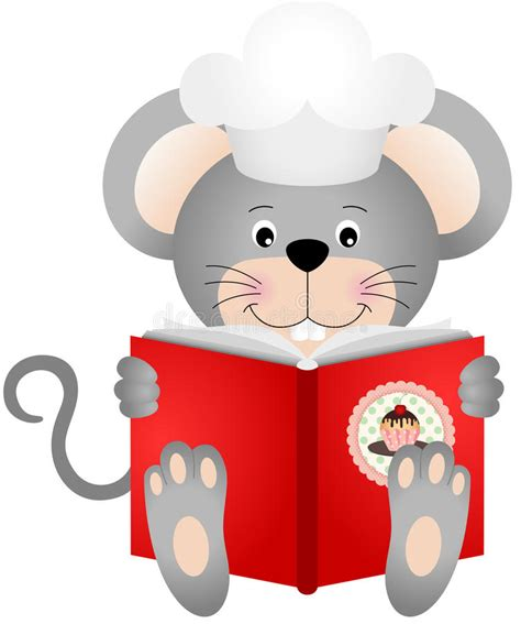topo in cucina topo legge un libro di cucina illustrazione vettoriale