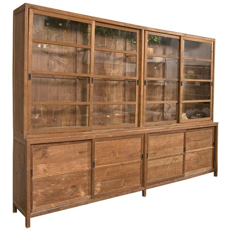 Sliding Glass Doors For Cabinets Sliding Glass Door Teak Cabinet At 1stdibs
