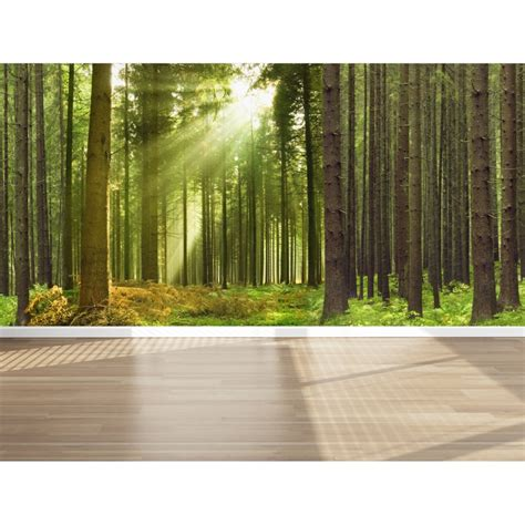 cloth wall murals wall mural in the woods peel and stick repositionable fabric wallpaper for interior home