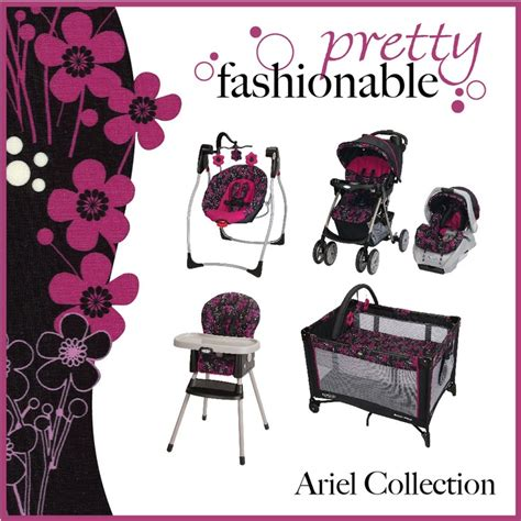 graco pink and brown swing caption look for the stylish ariel pattern on graco s