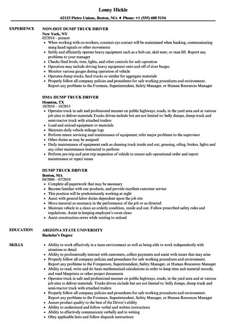 Resume Template For Driver Position by Truck Driver Resume Exle Pega Developer Cover Letter
