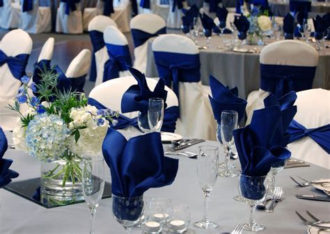 Royal Blue & Gray Wedding, ballroom at Oak Ridge Decor by