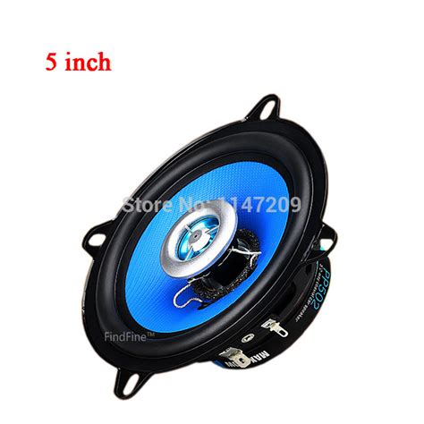 findfine blue 5 inch car speaker car audio host 5 inch coaxial speaker subwoofer speaker tweeter