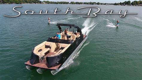 types of tritoon boats south bay pontoon 2017 showcase youtube