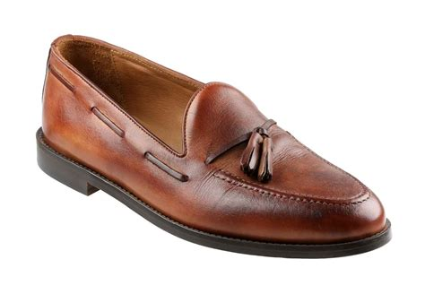 means loafers brock mens brown calf tassel loafer