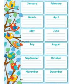 Printable Birthday Chart Template by 6 Best Images Of Classroom Birthday Calendar Printable