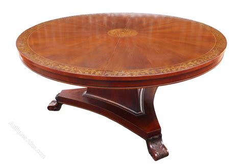 Large Circular Dining Table Large Circular Brass Inlaid Dining Table Antiques Atlas