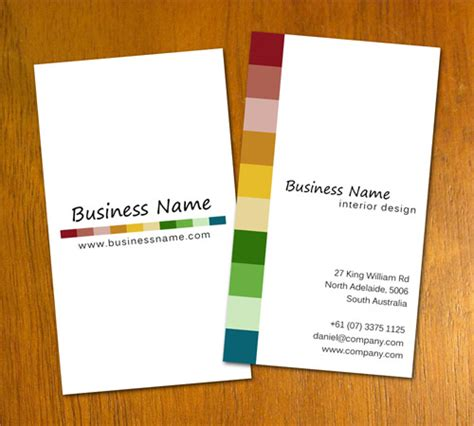 interior designer business card template free business card templates