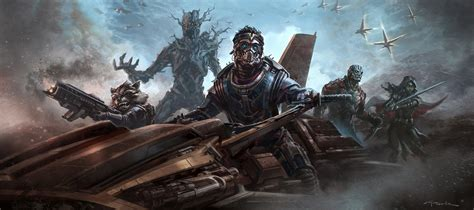 guardians galaxy concept art james gunn finishes first draft of guardians of the