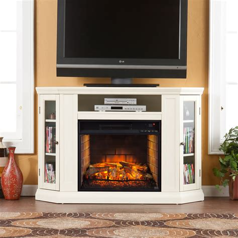 electric fireplace media cabinet claremont wall or corner infrared electric fireplace media