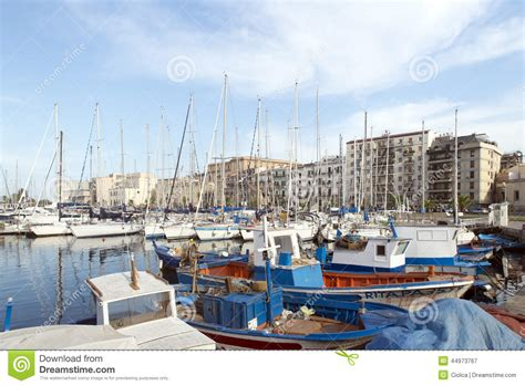 boats in italy called la cala palermo editorial photography image 44973767