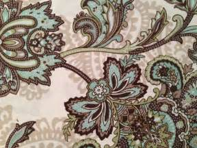 aqua and brown shower curtain peri marietta paisley medallion brown aqua green