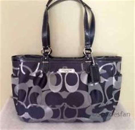 coach navy blue and silver navy blue and silver coach purse dress me up