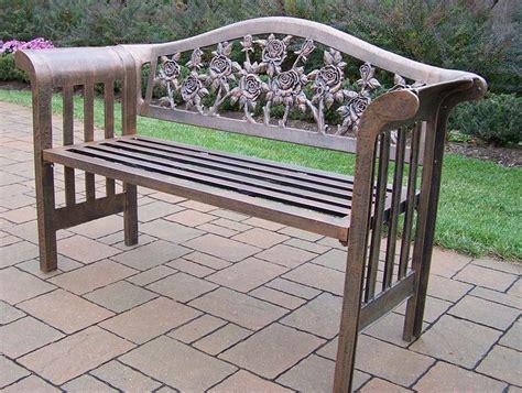 cast aluminum garden bench oakland living tea rose royal cast aluminum garden bench
