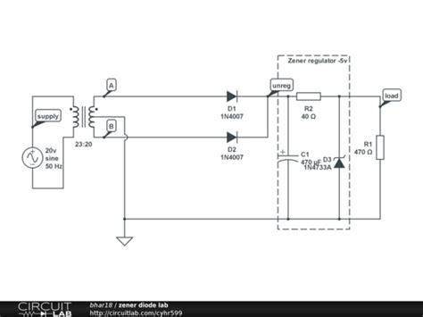 diodes lab zener diode lab circuitlab