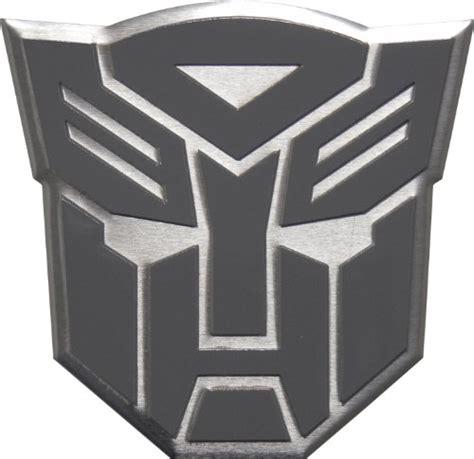 Sticker Alumunium Transformers Pattern Decepticon transformers autobots aluminum gray grey silver large emblem in gunmetal buy in uae