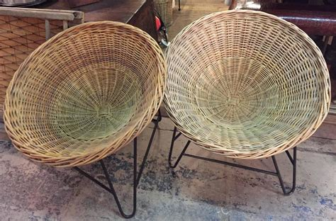 wicker basket chair at 1stdibs