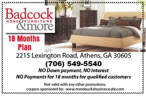 Badcock Furniture Athens Ga by Morebucks Billboards Free Click N Print Coupons