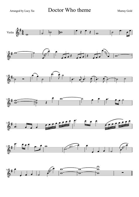 theme music dr who doctor who theme for violin fandoms pinterest sheet