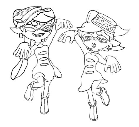 Splatoon 2 Coloring Pages by Splatoon Coloring Pages Printable Coloring Pages