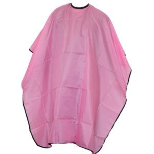 zippered hair cutting smock in can pink hairdressers cutting cape gown smock mobile