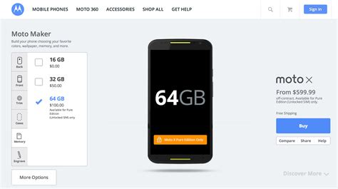 3 Second 64gb moto x 2nd now available in 64gb option
