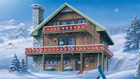ski chalet house plans ski chalet house plans inglewood ski chalet home plan 008d